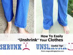 """Unshrink"" your clothes"
