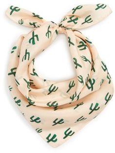 Women's Sole Society Cactus Silk Scarf
