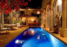 Yet another view of spa inspiration pool at Hacienda San Angel in Puerto Vallarta, Mexico