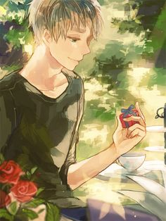 Wait a minute... what is that nice little gift? ;) Arthur Kirkland - Hetalia