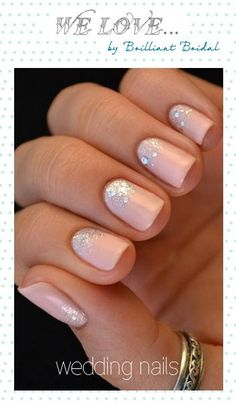 Beautiful wedding nails...Follow me for truly inspiring ideas on an elegant…