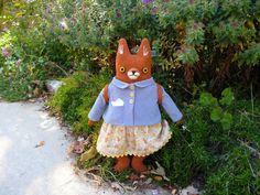 Little School Girl Fox by MimiKirchner on Etsy, $175.00