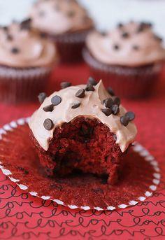 Vegan-Red-Velvet-Chocolate Chip Cupcakes.