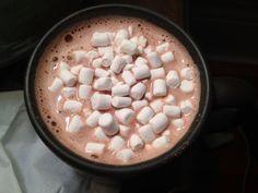 Imagen de marshmallow, drink, and chocolate