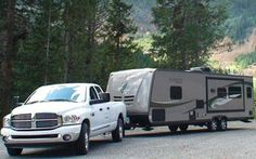 """How to video & tutorial on backing up your camper trailer.  Cool """"scoop"""" method. From CampingRoadTrip.com"""