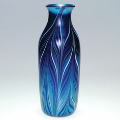 Orient & Flume Elongated Feather Art Glass Vase