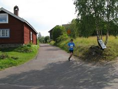 Half marathon in Tällberg in the village Östanhol...