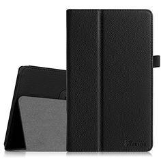 Fintie Odys Wintab 10 / TrekStor SurfTab Wintron 10.1 H�lle Case - Slim Fit Folio Kunstleder Schutzh�lle Cover Tasche mit St�nderfunktion und Stylus-Halterung f�r Odys Wintab 10 25,7 cm (10,1 Zoll) / TrekStor SurfTab Wintron Volks-Tablet 25,6 cm (10,1 Zoll) 99743 99843 Tablet-PC, Schwarz