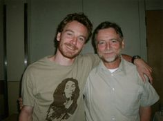 Michael Fassbender with his father