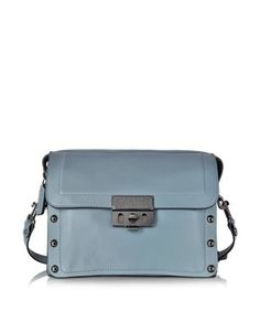 ESPIONAGE 25 ICE BLUE LEATHER SATCHEL MARC BY MARC JACOBS