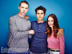 Will Poulter, Dylan O'Brien, Kaya Scodelario, The Maze Runner. See more stunning star portraits from our photo studio at San Diego Comic-Con 2014 here: http://www.ew.com/ew/gallery/0,,20399642_20837150,00.html