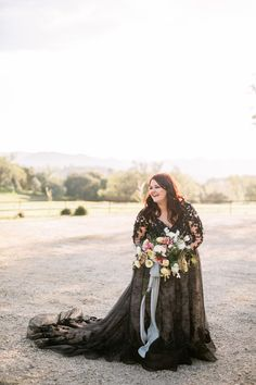 The bride wore a black wedding dress and planned a modern wedding that would last beyond trends. See all the stunning details on GWS! Bridal Portrait Poses, Most Beautiful Images, Bridal Pictures, Black Wedding Dresses, Bridal Looks, California Wedding, Wearing Black, Santa Margarita, Bride
