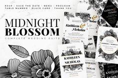 Midnight Blossom - Wedding Suite by AM Studio on @creativemarket
