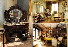 Dust-shrouded time capsule : a 1930s Paris apartment left entirely intact was recently rediscovered.