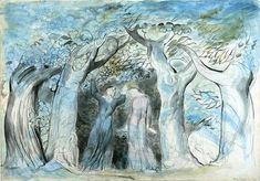 William Blake (1757–1827)  --  Dante and Virgil enter the wood  [Dante illustration, Inferno Canto II 139-141]