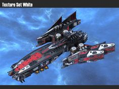 model Spaceship Destroyer Falcon space spaceship, formats include OBJ, FBX, ready for animation and other projects