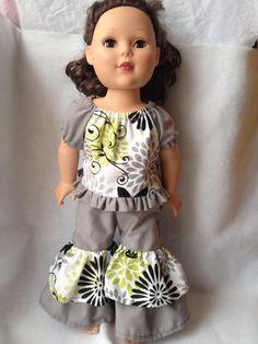 Doll Clothes - Alyssa Top and Rowan Pants- $22