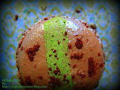 wasabi & chocolate macaron
