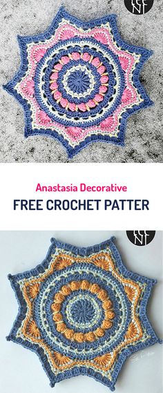 Anastasia Decorative Free Crochet Pattern #crochet #yarn #homedecor #crafts