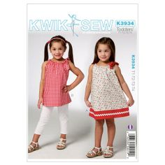 Toddlers' Dress & Tunic-T1-T2-T3-T4 Pattern, , hi-res