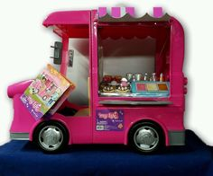 My Life Food Truck For 18 Inch Dolls Pretend Play Set Chalkboard Food Pink #MyLife #Vehicles