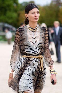 Giovanna in sheer tiger print.