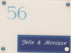 Gravoglas naamplaat art nr. 4403