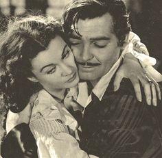 Vivian Leigh and Clark Gable as Scarlett OHara  Rhett Butler in Gone With the Wind