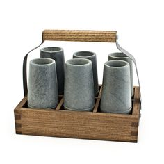 Reclaimed Wood Caddy with Vodka Shooters From the Home Decor Discovery Community At www.DecoAndBloom.com