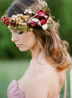 Oh, so pretty | Marsala floral crown