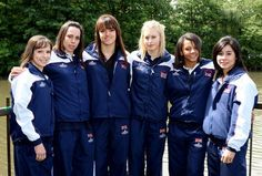 Team GB 2008: Hannah Whelan, Beth Tweddle, Rebecca Wing, Laura Jones, Becky Downie, Marissa King!