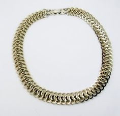 Vintage Aluminum Necklace Germany by EclecticVintager on Etsy, $40.00