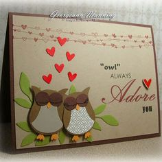 Owl Always Adore You. #Stampin' Up! #Owl Builder Punch #Valentine Defined