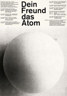 Dein Freund das Atom by Gunter Rambow Graphic Design Typography, Graphic Design Art, Graphic Design Inspiration, Print Design, Editorial Layout, Editorial Design, Yearbook Design, Yearbook Theme, Yearbook Layouts