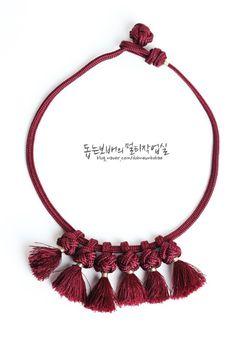 [전통매듭 공예 - 연봉매듭] 핸드메이드 목걸이 만들기 : 네이버 블로그