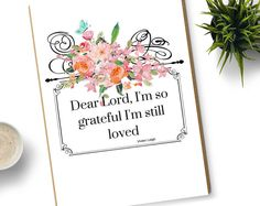Browse unique items from ElleByLizelle on Etsy, a global marketplace of handmade, vintage and creative goods. I Am Grateful, Dear Lord, All Things, Digital Prints, Place Card Holders, Creative, Handmade Gifts, Stuff To Buy, Etsy