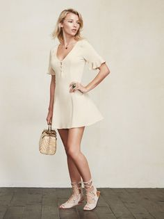 This is part of the Don't Call Me Cute Petites Collection - specially designed for ladies 5'4 and under. The Petites Margaret Dress is just an easy thing you can throw on day or night, she'll never make you look bad. https://www.thereformation.com/products/petites-margaret-dress-banana?utm_source=pinterest&utm_medium=organic&utm_campaign=PinterestOwnedPins