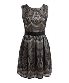Cream & Black Ava Dress by London Dress Company #zulily #zulilyfinds