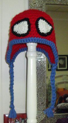 Spiderman, crochet hat, kids crochet .....simple to make lots of ideas  no patterns