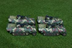 Sdkfz251/17 in hard edge camo for Flames of War