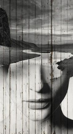 Minus the wood texture. The way the river becomes her features. Photoshop, Creative Photography, Art Photography, Double Exposure Photography, Wood Painting Art, Art Pictures, Collage Art, Creative Art, Photo Art