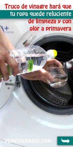 Truco de vinagre hará que tu ropa quede reluciente de limpieza y con olor a primavera. ¡Sin químicos, fácil y barato! #lavadora #ropa #consejos