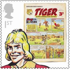 Great Britain 2012 - Tiger and Roy of the Rovers (Großbritannien) (Comics) Royal Mail Stamps, School Images, Creative Review, Picture Story, First Day Covers, Classic Comics, Stamp Collecting, My Stamp, Postage Stamps