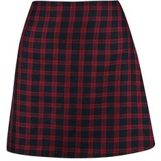 Boohoo Luz Tonal Tartan Woven A Line Mini Skirt ($22) ❤ liked on Polyvore featuring skirts, mini skirts, short mini skirts, mini skirt, plaid pleated skirt, purple maxi skirt and short skirts
