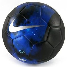 Nike CR7 Cristiano Ronaldo Prestige Soccer Ball Size 5 (Space Galaxy Blue).  Soo cool