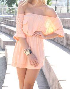 i love off the shoulder dresses
