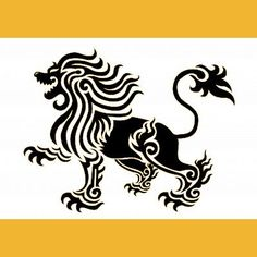Black and Gold Lion Tattoo