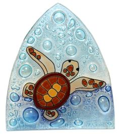 Handcrafted Fused Art Glass Night Lights Swimming Baby Turtle >>> Check this awesome product by going to the link at the image.