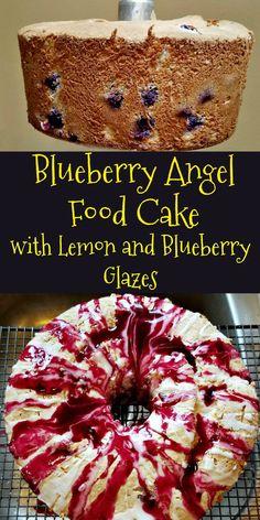 Blueberry Angel Food Cake