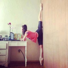 Hah, this is how dancers log onto Pinterest.